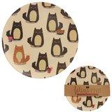 Bord bamboevezel Katten, duurzaam, herbruikbaar H 20cm B 20cm Diepte 0.5cm _