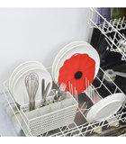 Deksel in silicone - Model Poppy rood - Charles Viancin 20cm_