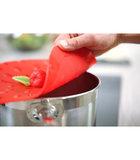 Deksel in silicone - Model Strawberry Aardbei - Charles Viancin 23cm_