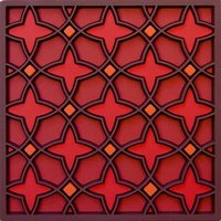 Set 2 onderzetters Coaster NAJMA RED, 9x9cm, 2pcs
