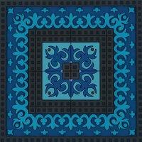 Set 2 onderzetters Coaster BLUE'S 3, 9x9cm, 2pcs