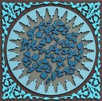 Set 1 onderzetter Trivet MOSAIC BLUE, 18x18cm