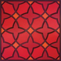 Set 1 onderzetter Trivet NAJMA RED, 18x18cm