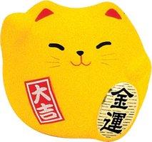 Earthen Fig. Lucky Cat 5,5cm Yel. KT7/YC 1/192 aardewerk