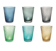 Set Glazen Tumbler Livellara TWISTER, Mixed Colors, 6-pack
