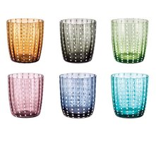Set Glazen Tumbler Livellara CARNIVAL, Mixed Colors, 6-pack