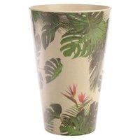 Drinkbeker bamboevezel Tropic, duurzaam, herbruikbaar H 12.5cm B 8cm D 8cm