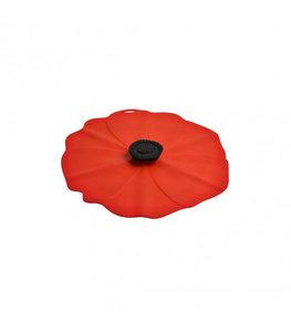 Deksel in silicone - Model Poppy rood - Charles Viancin 20cm