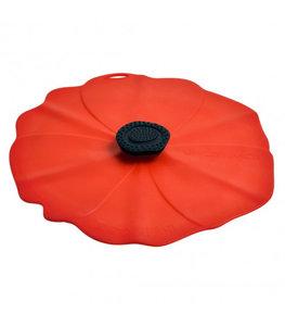 Deksel in silicone - Model Poppy rood - Charles Viancin 33cm