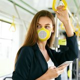 Mondmasker Guzzini met filter ECO MASK Kleur ZWART_