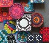 Set 2 onderzetters Coaster NAJMA RED, 9x9cm, 2pcs_