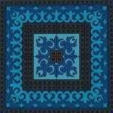 Set 2 onderzetters Coaster BLUE'S 3, 9x9cm, 2pcs_