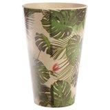 Drinkbeker bamboevezel Tropic, duurzaam, herbruikbaar H 12.5cm B 8cm D 8cm_
