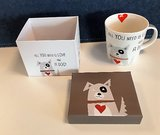 Koffer Set 1 Mok porselein Dog Love - 350ml_