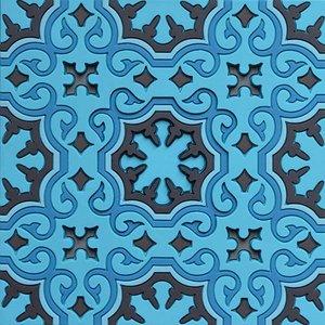 Set 2 onderzetters Coaster BLUE'S 1, 9x9cm, 2pcs