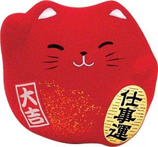 Earthen Fig. Lucky Cat 5,5cm Rd. KT7/RC 1/192 aardewerk