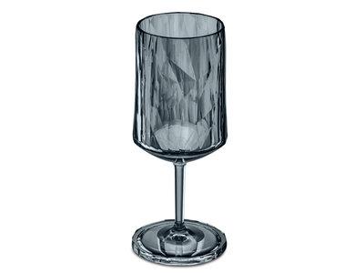 Onbreekbaar glas CLUB N°4, glas met voet, grijs transparant, 1 stuk, 300ml