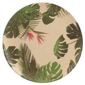 Bord bamboevezel Tropic, duurzaam, herbruikbaar H 20cm B 20cm Diepte 0.5cm